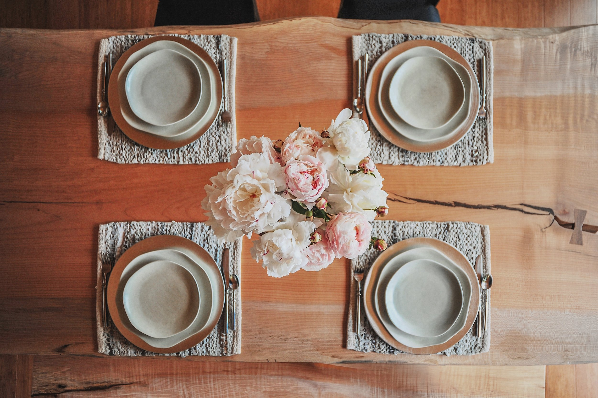 Table setting from  Orcas Island Escape .