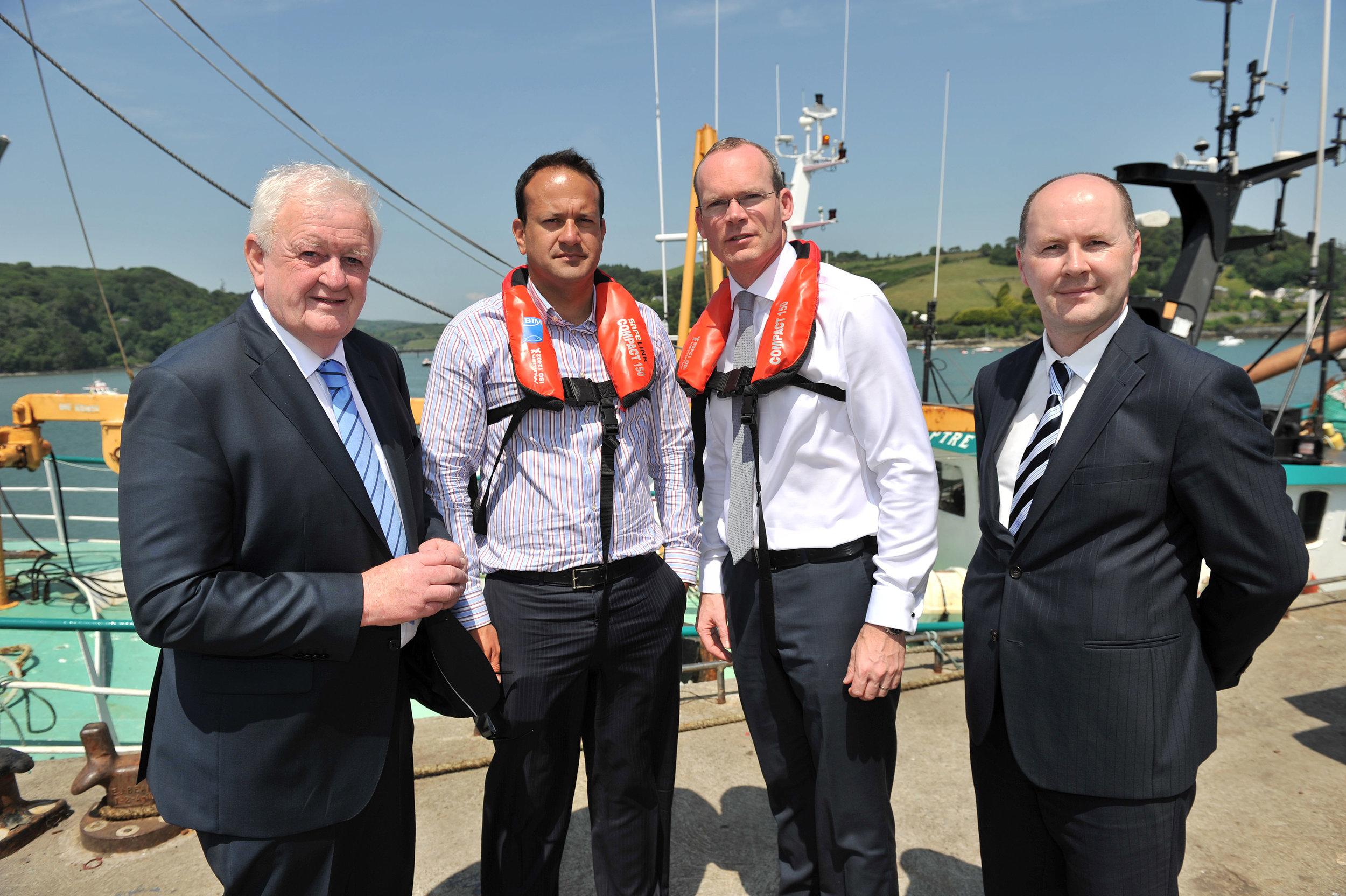 Leo Varadkar (middle left) & Simon Coveney (middle right). Image from leovaradkar.ie