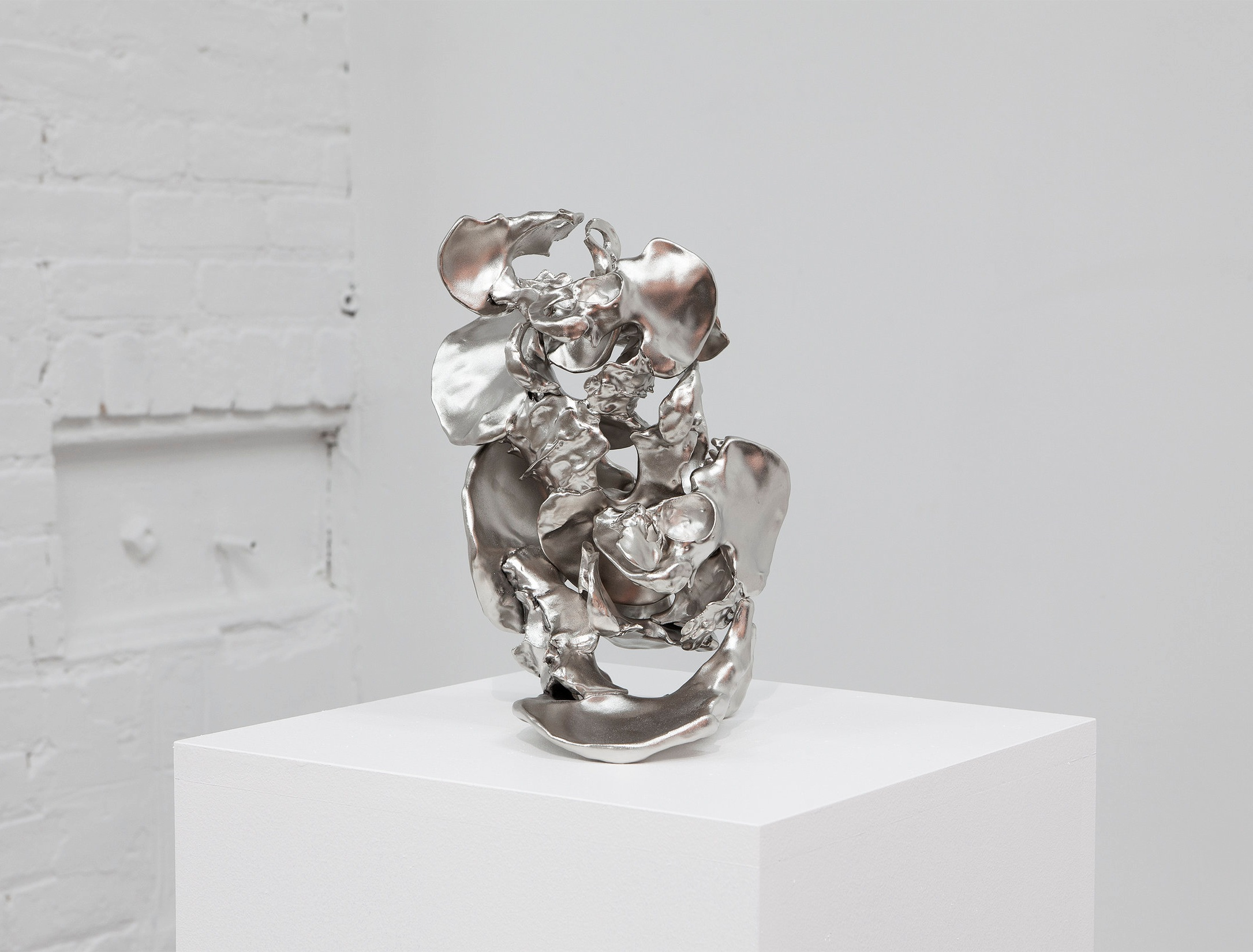 Carol Peligian  6lbs 4oz , 2019 Nickel-plated bronze ,14 x 10 x 10 inches