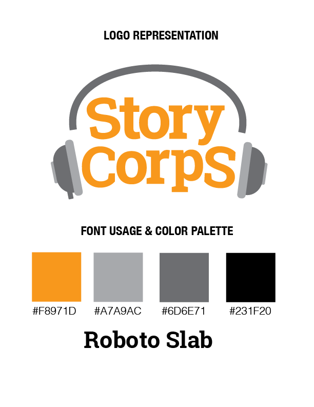 Logo re-design for Story Corps.