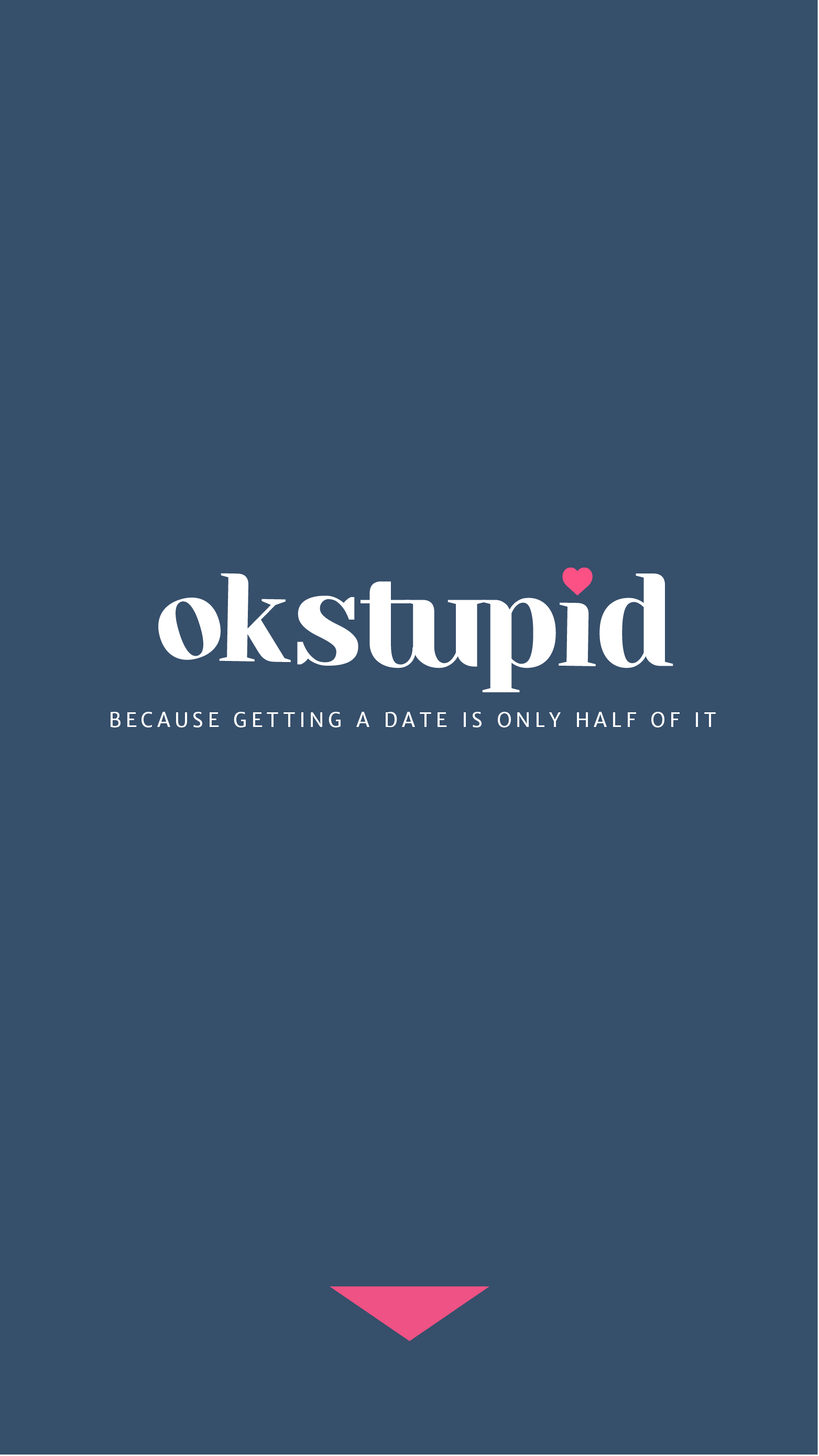 Mobile interface for a hypothetical mobile app called OkStupid