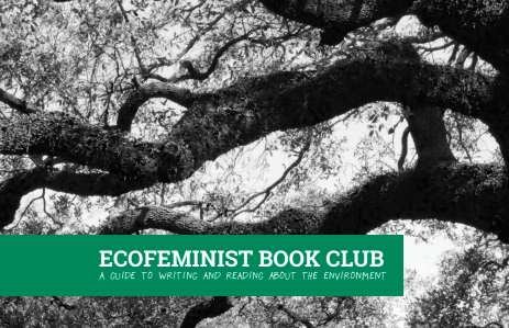 Front cover of a zine I created called Ecofeminist Book Club