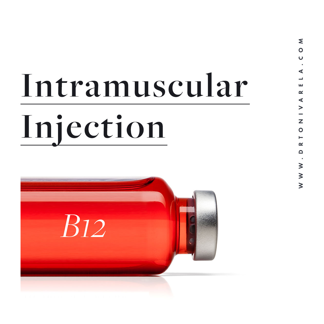 B12 & INTRAMUSCULAR INJECTIONS - IM Therapies involve the injection of healthy nutrients to promote wellness and metabolism. Intramuscular Injection options include:• B12• Folate• B-Complex• Traumeel• Lipo-MIC with B12& More...So please feel free to ask if there is something you desire but do not see.