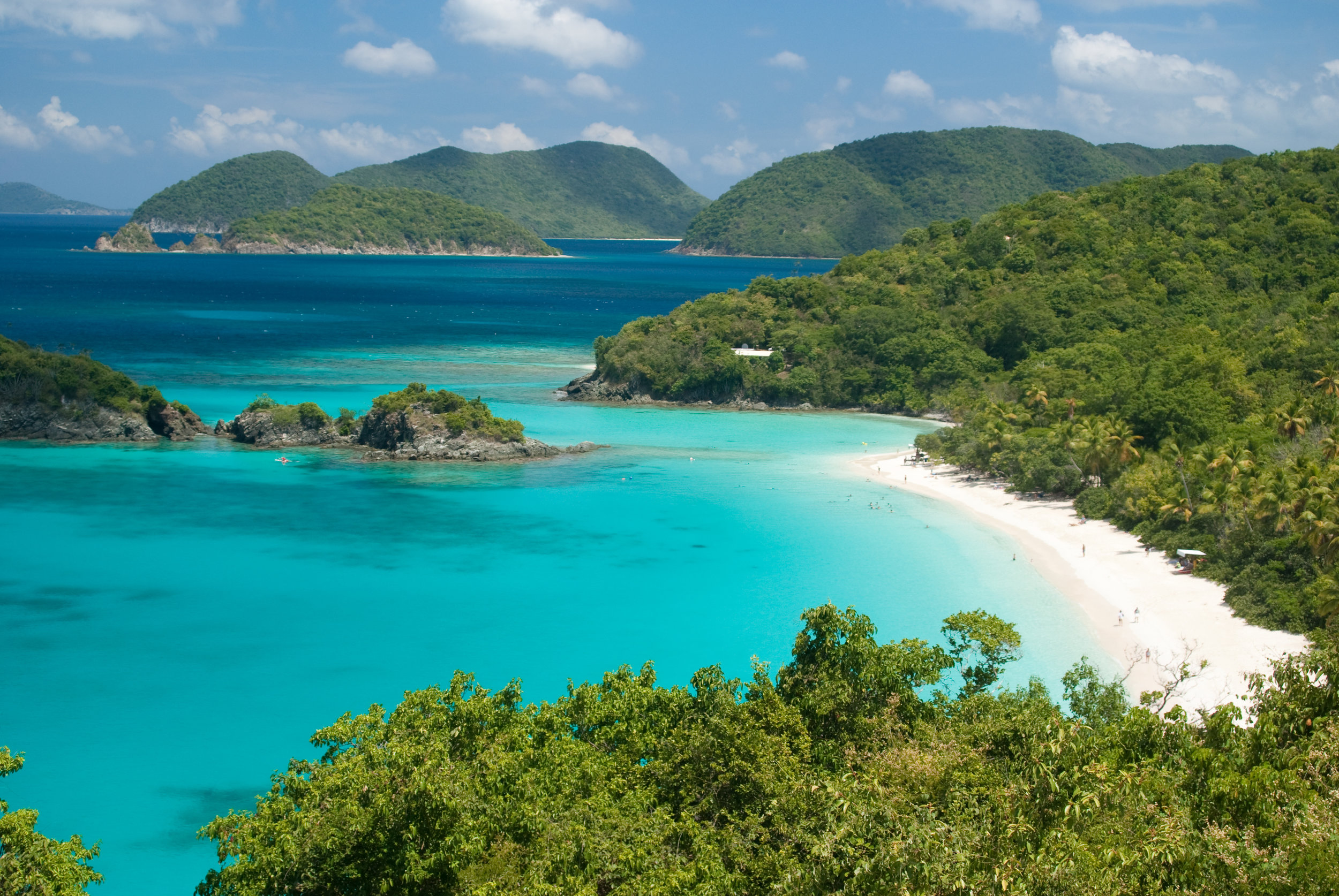 The British Virgin Islands  What better way to ring in the New Year than visiting the British Virgin Islands in January. With the sunny skies as your roof, let the warm breeze serenade you while you sip margaritas on the beach and get a killer tan.