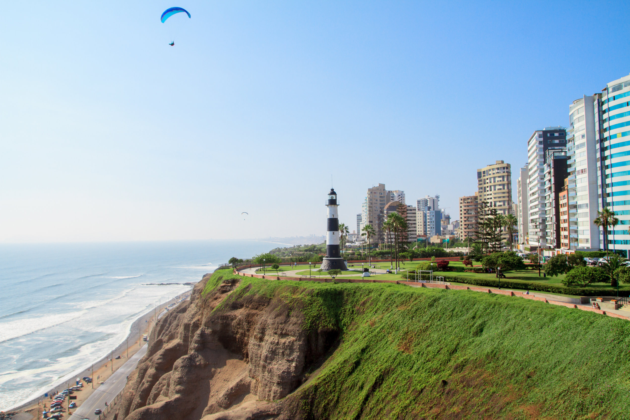 Peru  As you find yourself longing for a sunny sky head on over to Peru in April for the ideal summer temperature and romantic bouts of rain. From the sprawling beaches in Lima where you can enjoy some kick-ass parties to bonding with nature in Machu Picchu, this place has it all.