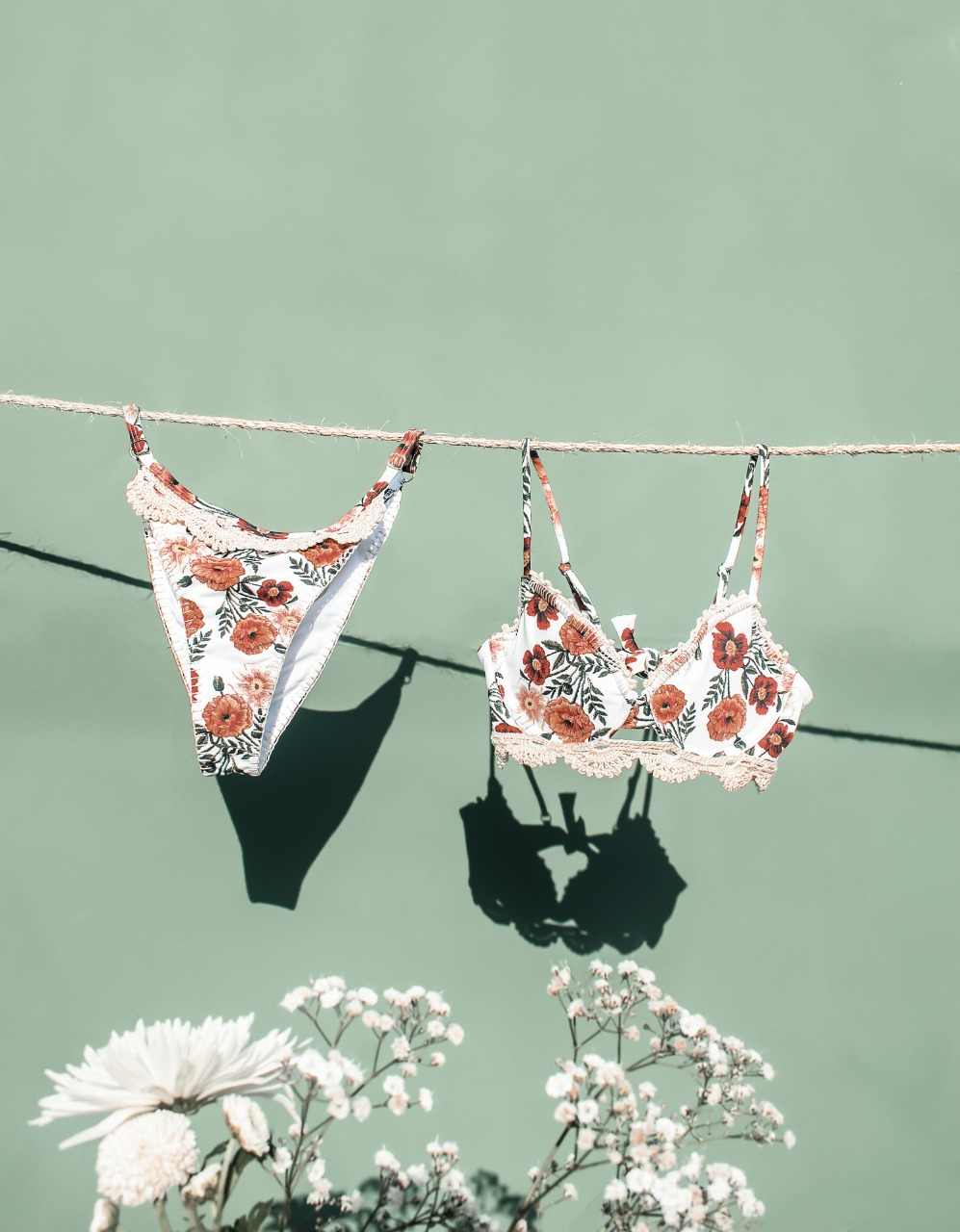 bikini set with flowers print