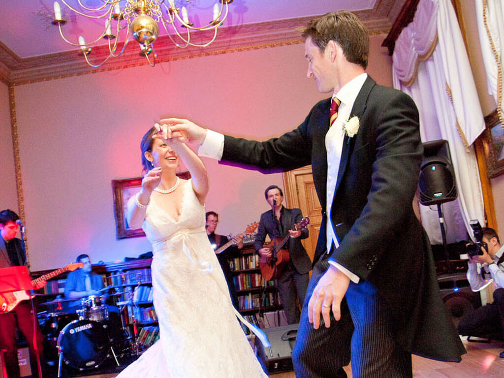 You guys are the most fun, energetic, talented and professional band I have seen for ages. How lucky were we to have you perform at our wedding?! - Catherine & Jakob - Groomes Country House, Frith End, Bordon, Hampshire