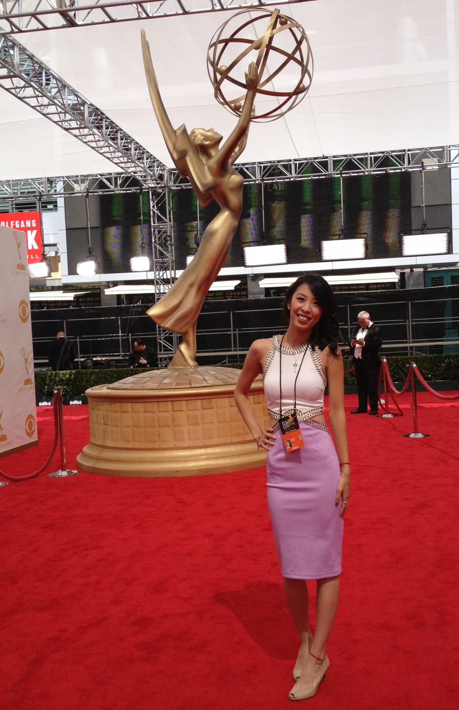 Kristie covering the Emmys Awards.