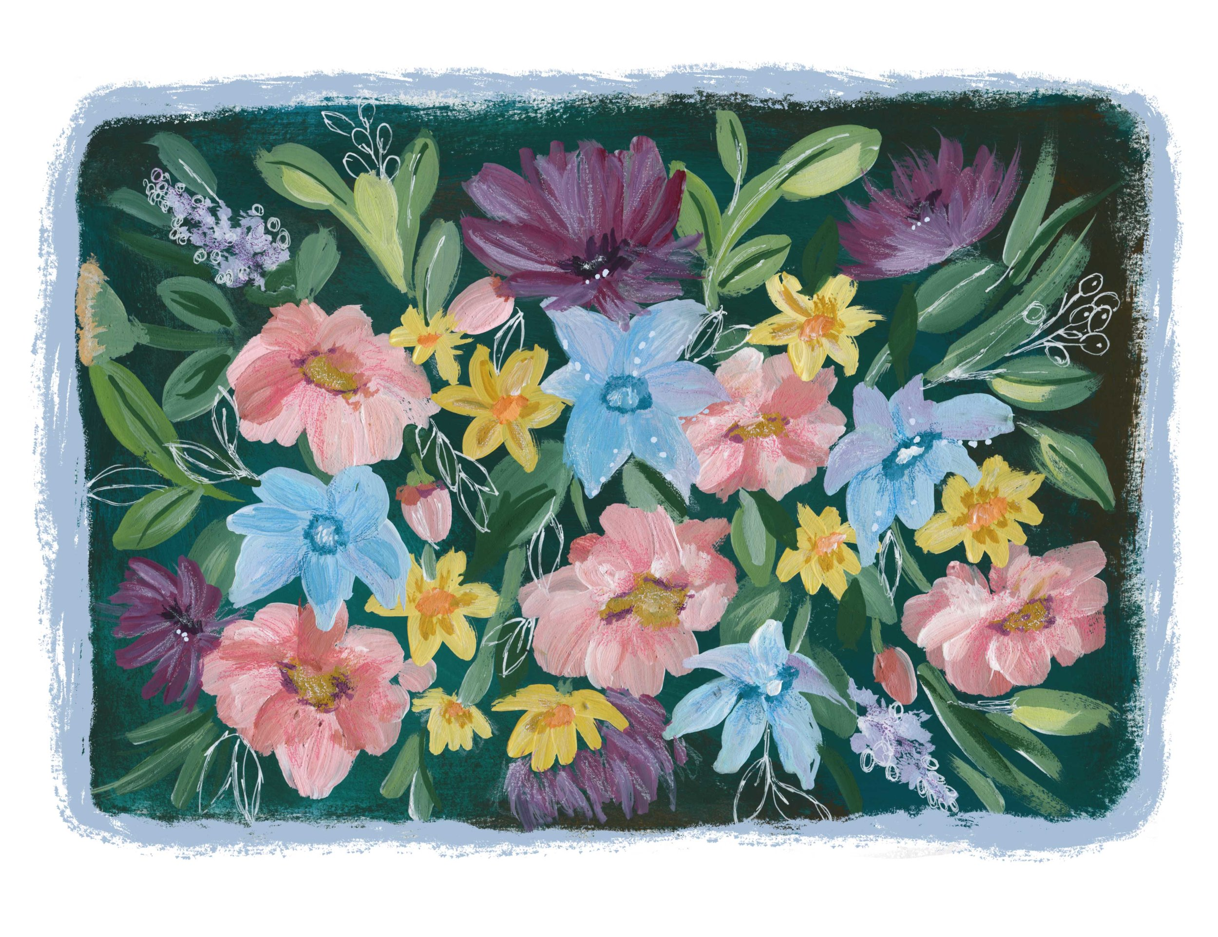 Bunched_Flowers_On_Dark_Teal.jpg