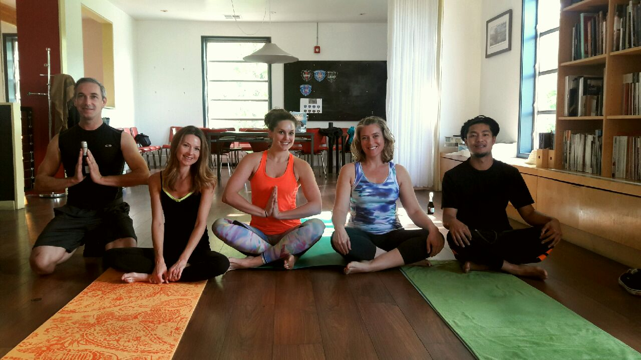 "A huge shout out to the ""Cromies"" at Crome Architecture in San Rafael for completing their 100th yoga class with me this week!  When the light inside of me acknowledges and recognizes the light inside of you, then we are all ONE. From me heart to yours, Namaste."