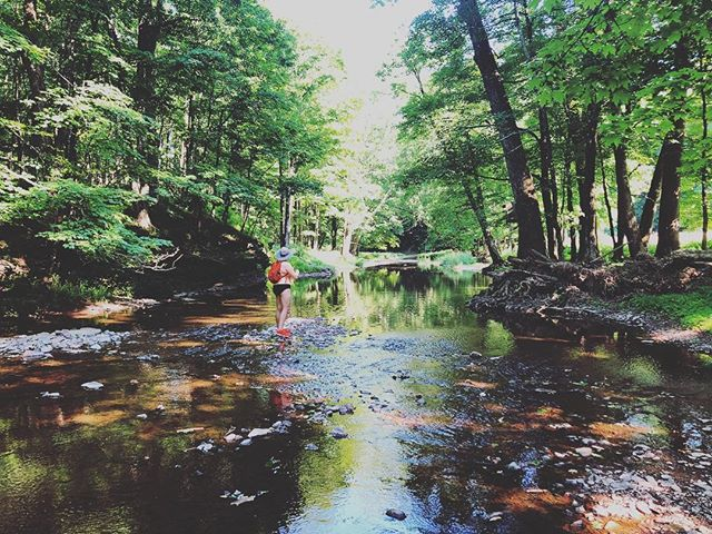 🎣Our @airbnb had its own creek filled with trout on a 100 acre property. . . . . . #pennsylvania #fishing #troutfishing #creek #nature #outdoors #womenwhofish #outside #travel #travelgram #explore #lgbt ##travelblogger #travelblog #travelgram #pictureoftheday #naturelovers #naturephotography #lgbtqtravelers #lgbtq #lesbian #lesbiantravel #whpjourney #whprelax
