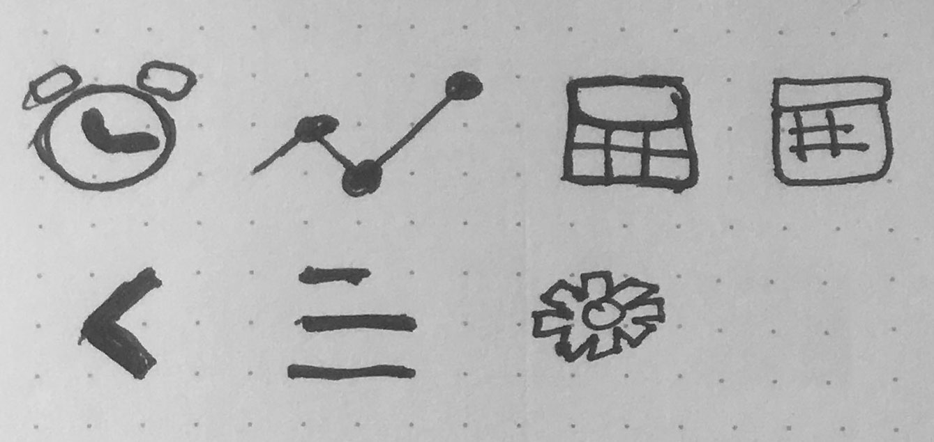 Early Icon Sketches.