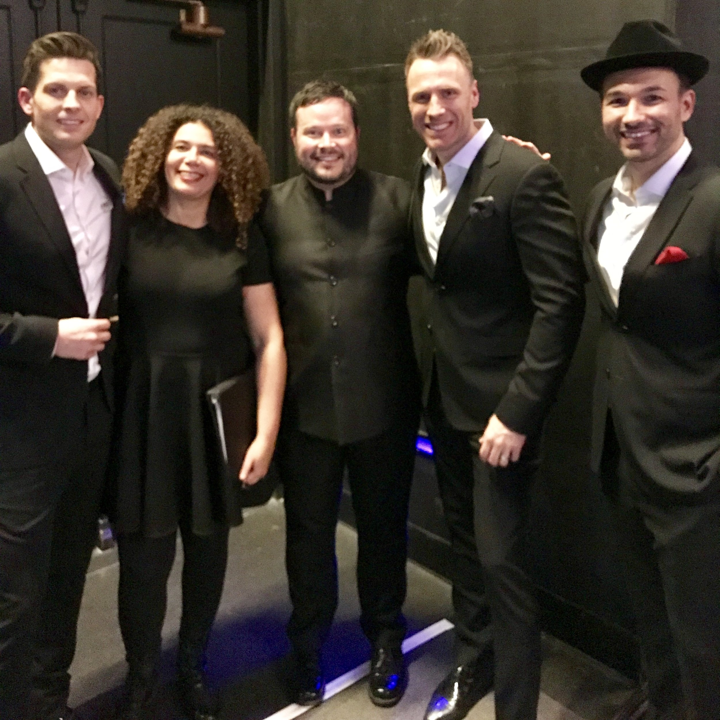 Me and Valerie with The Tenors