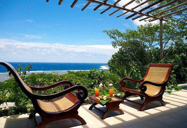 A sea blue and green as far as the eye can see at #myolafiji 🌴 #fiji #travel #luxury #wanderlust