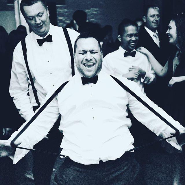 Listen, suspenders just cannot get in the way of pure joy. #musicmademedoit #realdjs #dj #weddingdj #newyork #nyc #nycwedding