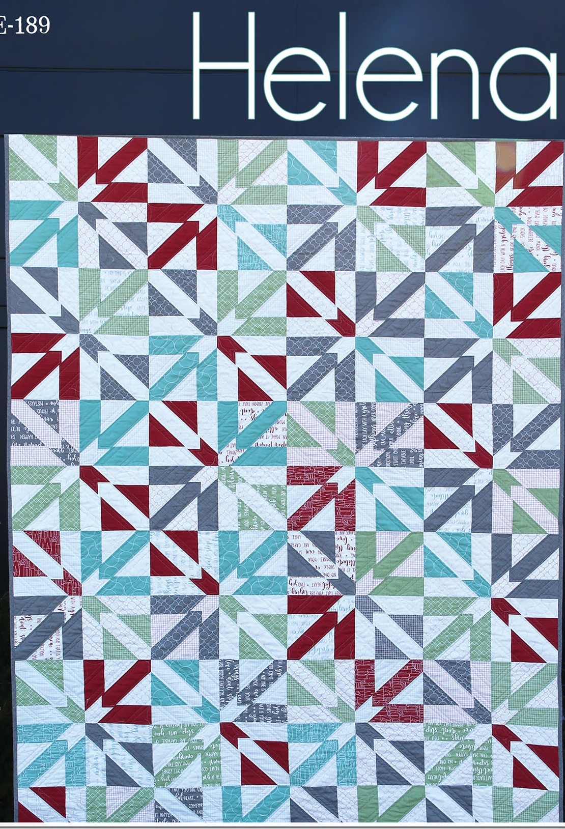 "This quilt uses assorted 10"" squares of lights and darks as well as innovative piecing and cutting with the Stripology Squared ruler by GE Designs. The pattern comes with 5 different size options: crib, lap, twin, full, queen-king."