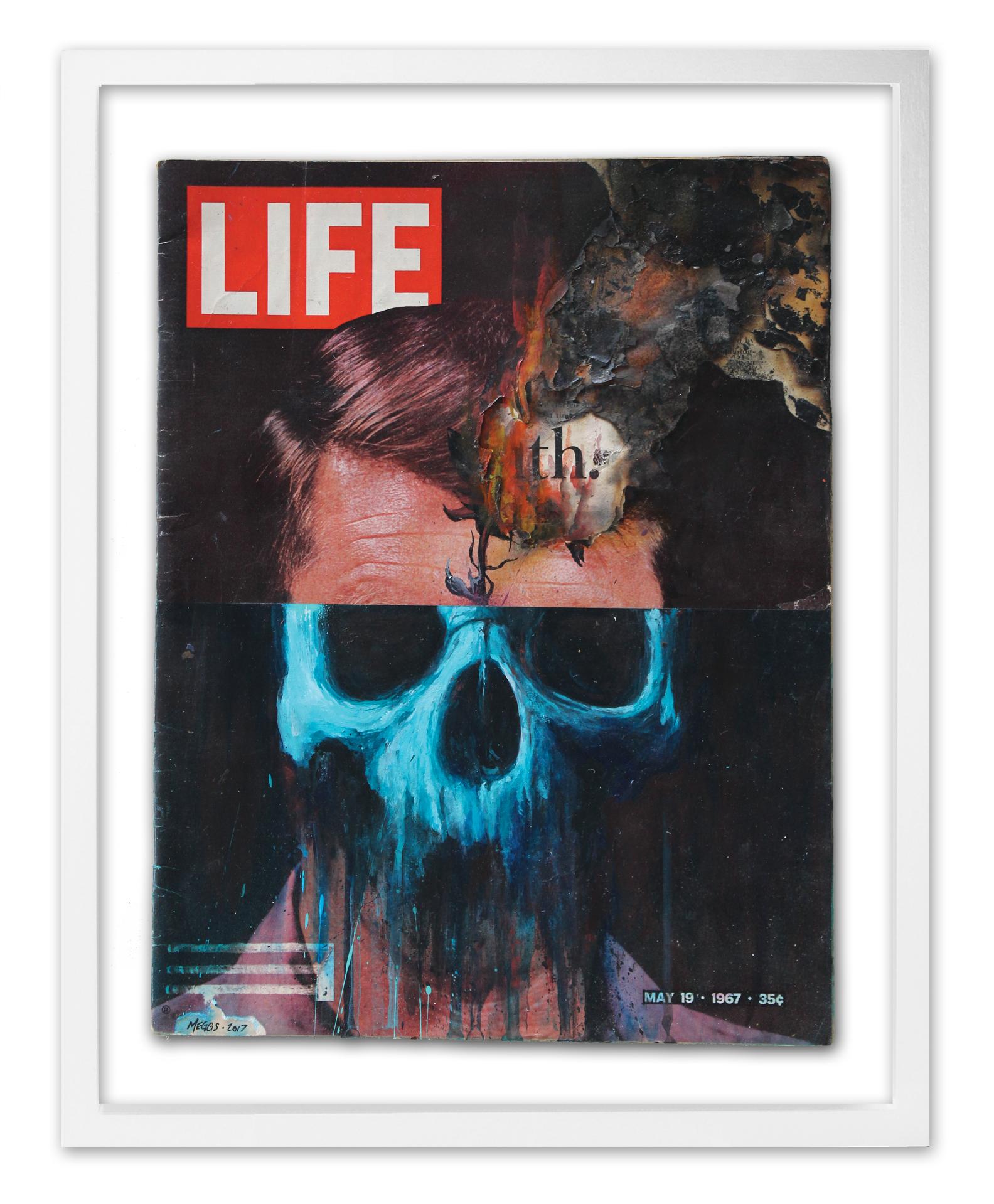 'Overgrowth'  2017 Acrylic on repurposed LIFE Magazine