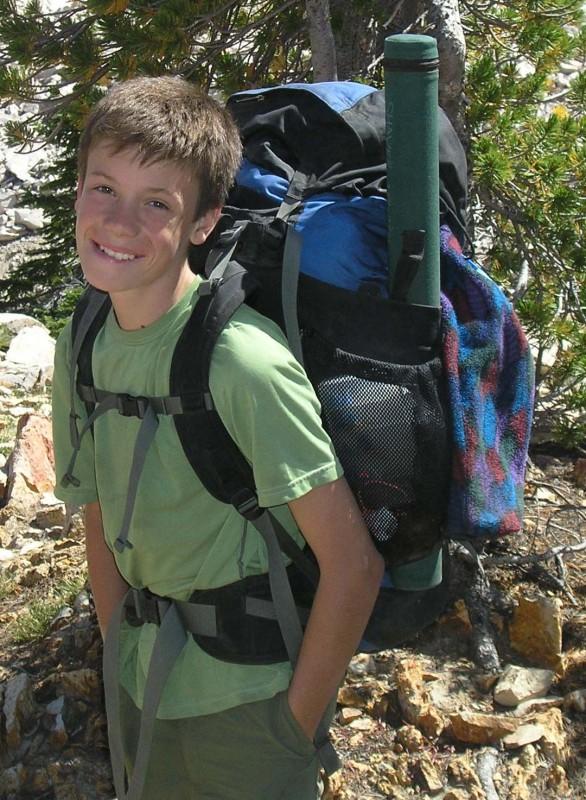 Jim at 13 years old, on Sawtooth Slowpoke