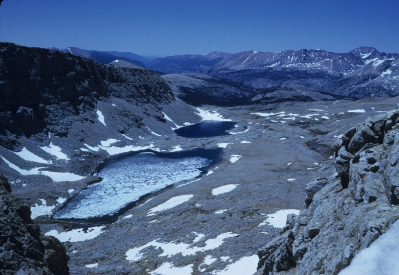Above:from the top of Forester Pass, looking south.