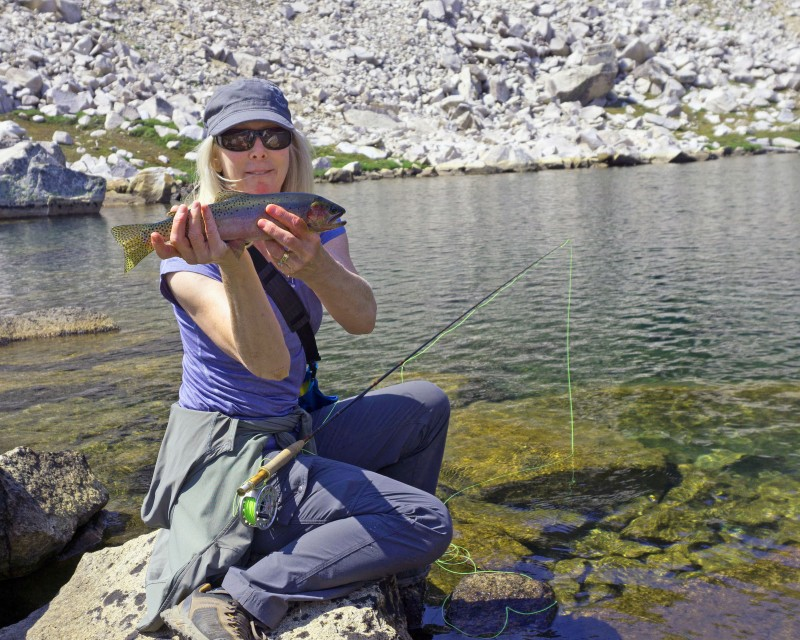 The next day we rested a bit, and the Anderson's showed us how to catch nice trout in these high altitude lakes.