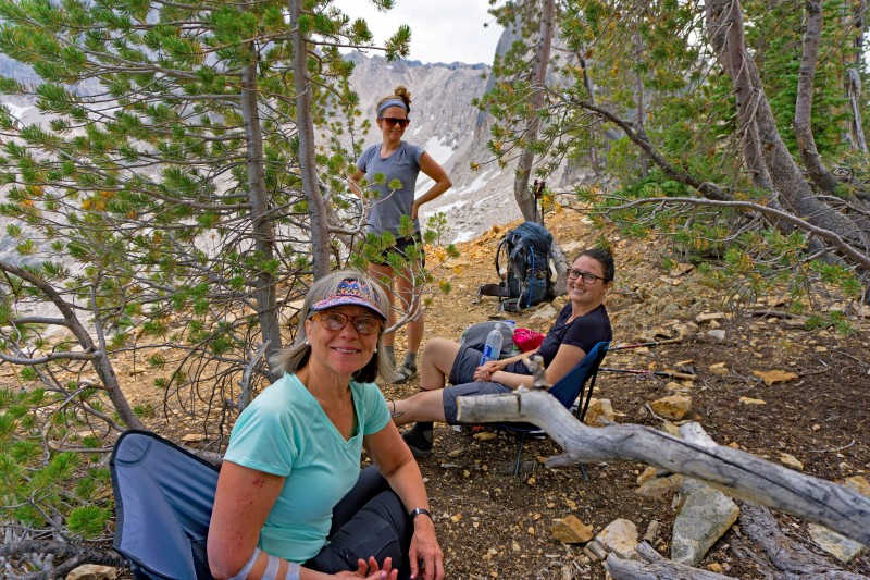 The beautiful Shaver girls on top of Cramer Divide