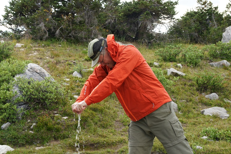 Wring out excess water, put clothes on a rock in the sun to dry, or on tree branches in the wind to dry.