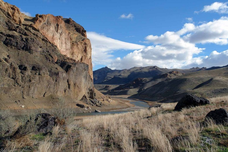Above:This is a view of the canyon from close to our camp, looking downriver.