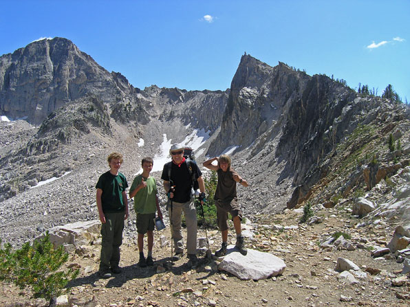 Malcolm, Jim, Kevin, and Joe on top of Cramer Divide.