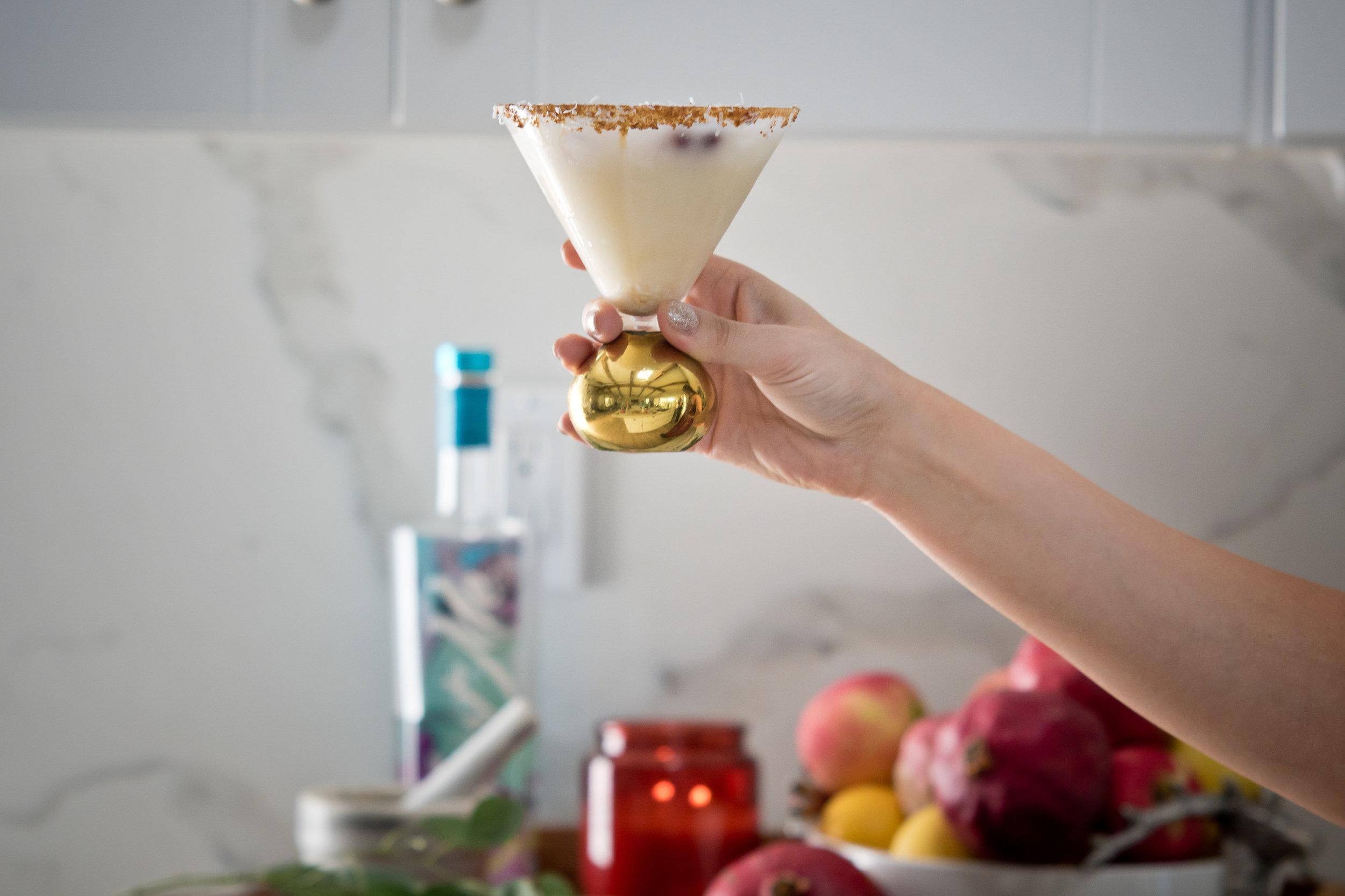 Coconut Winterland Craft Cocktail -