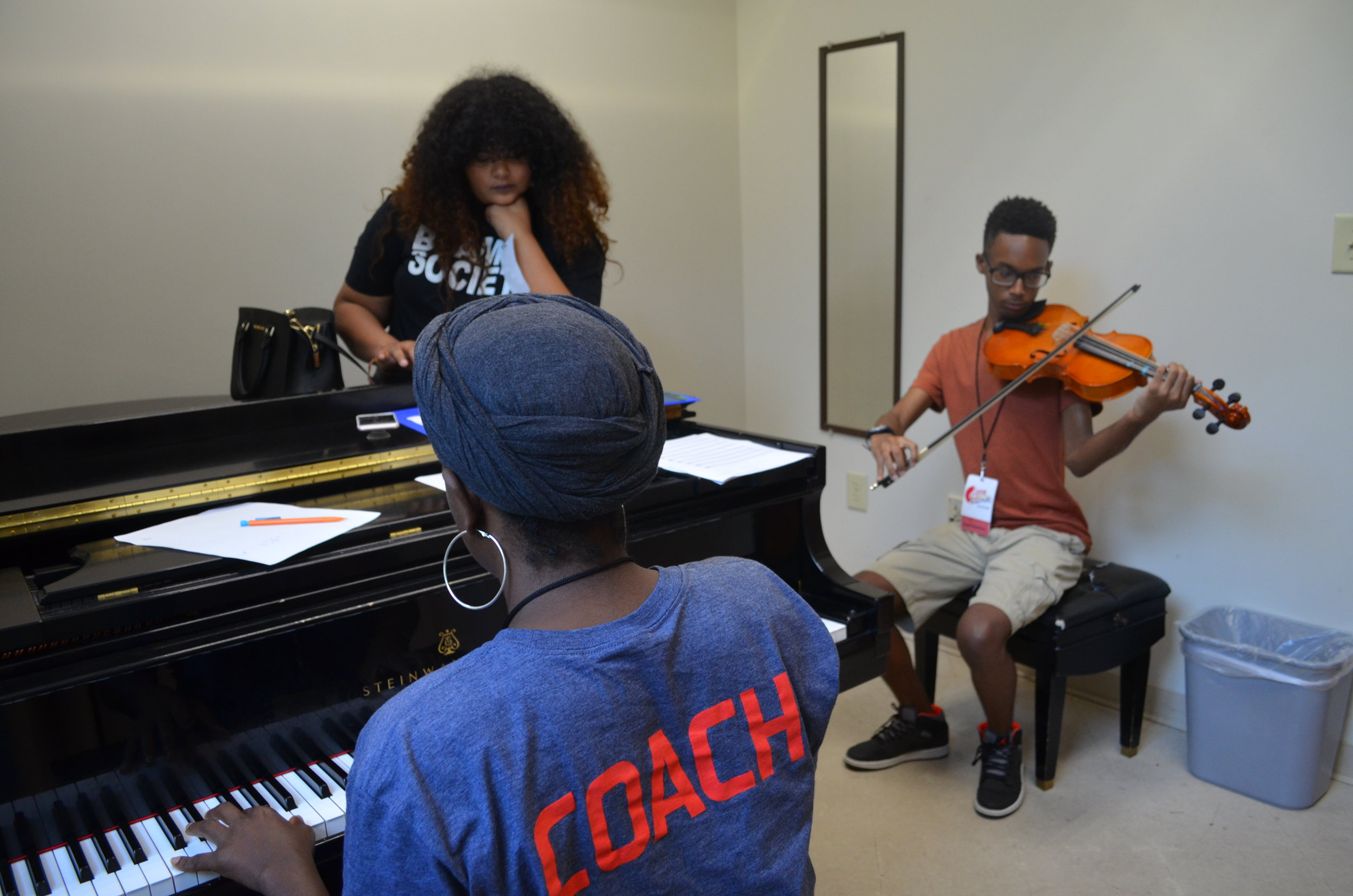 On day one campers chose the genres they wanted to learn more about and immediately headed into practice rooms.