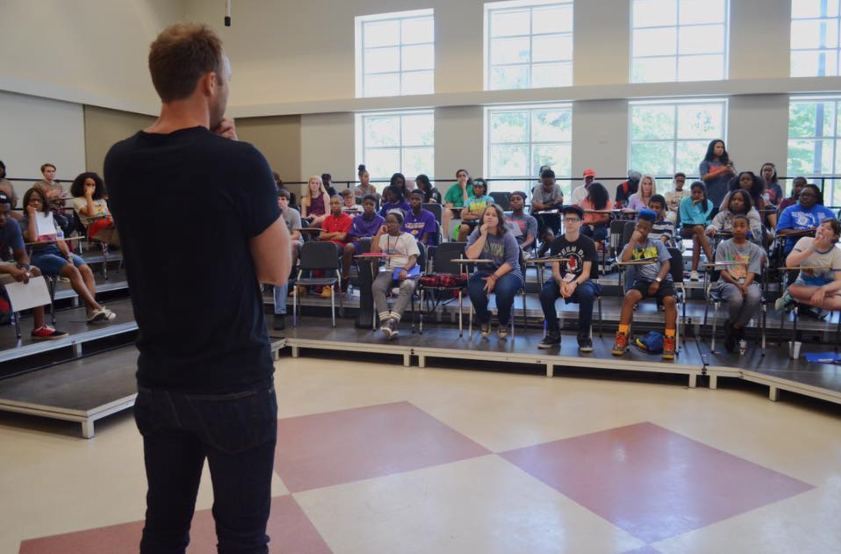 David Claassen of BMI presented to our campers.