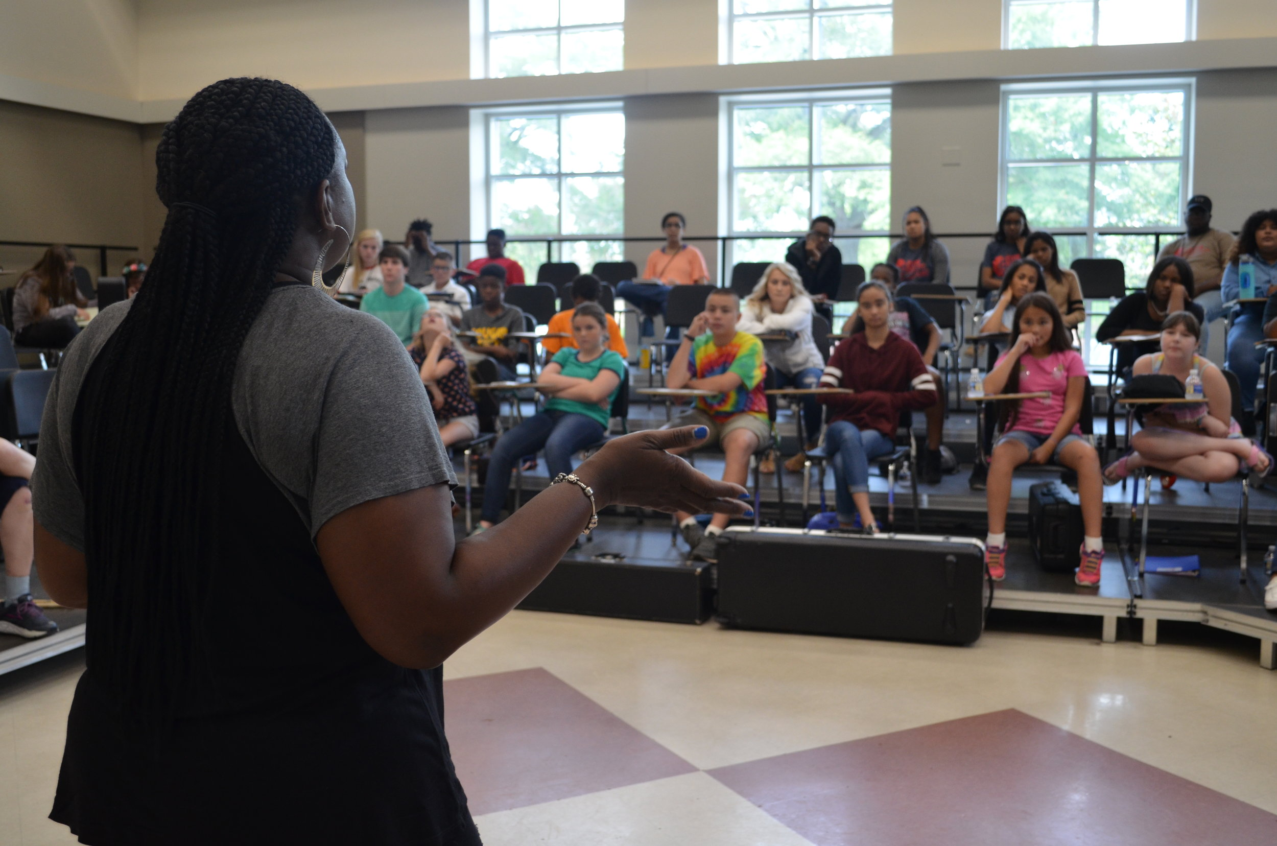 She educated our campers about the music industry and even rapped for us.