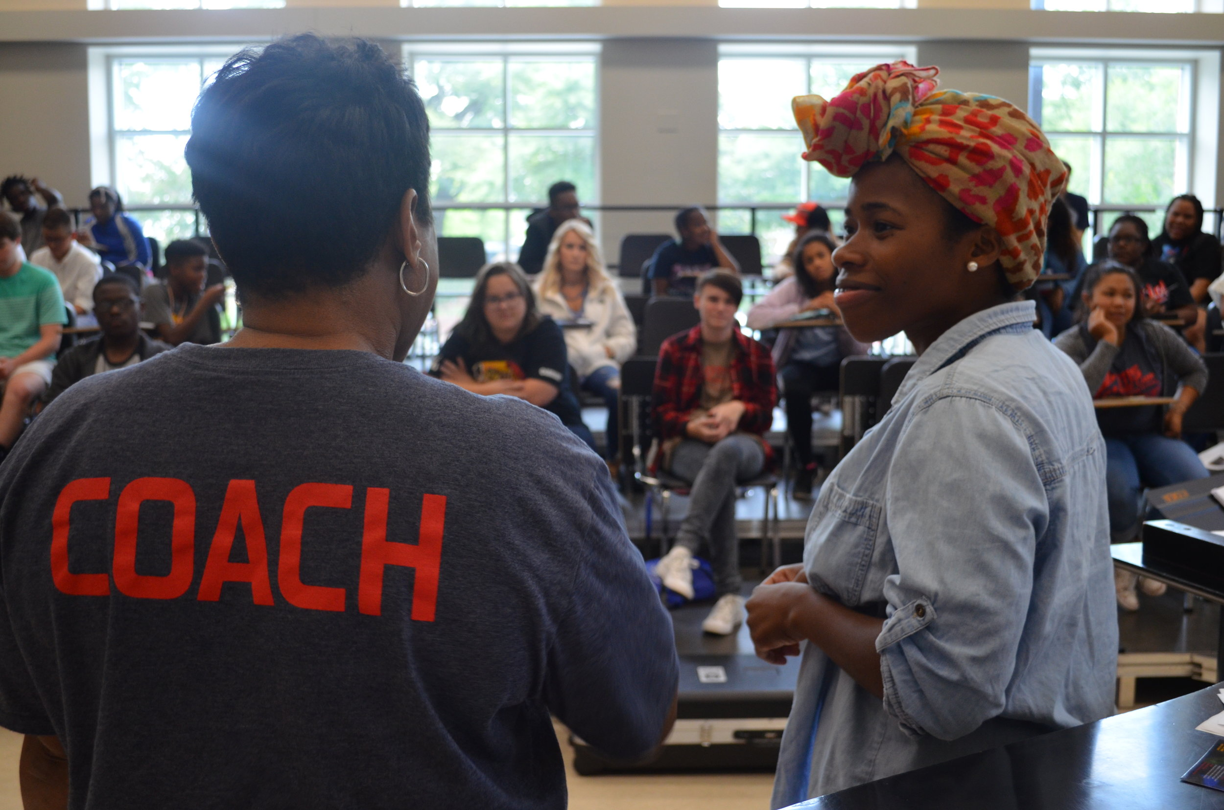 Opera singer, Jasmine Habersham, stopped buy camp and sang a song for them.
