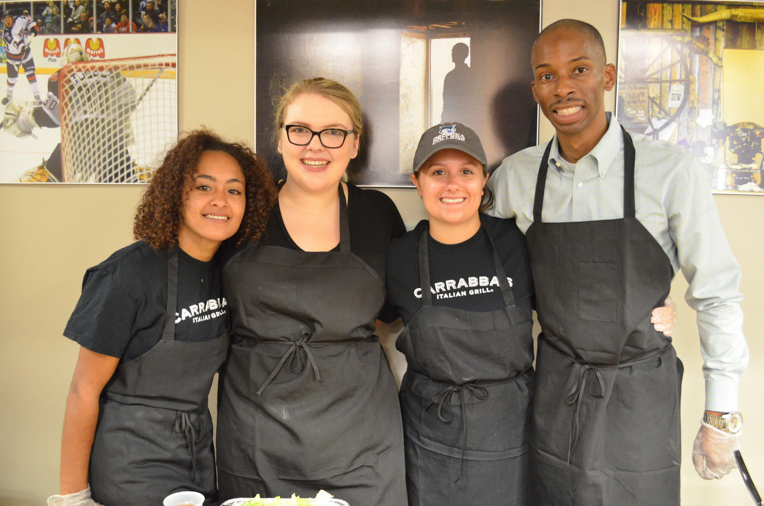 Carrabba's Italian Grill not only served us wonderful food but they served our campers with kind smiles.