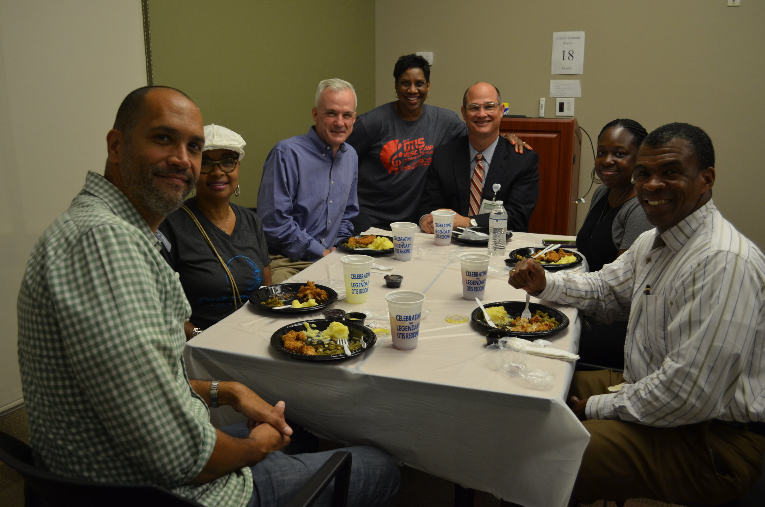 Some of our sponsors and board members stopped by and ate lunch with the campers.