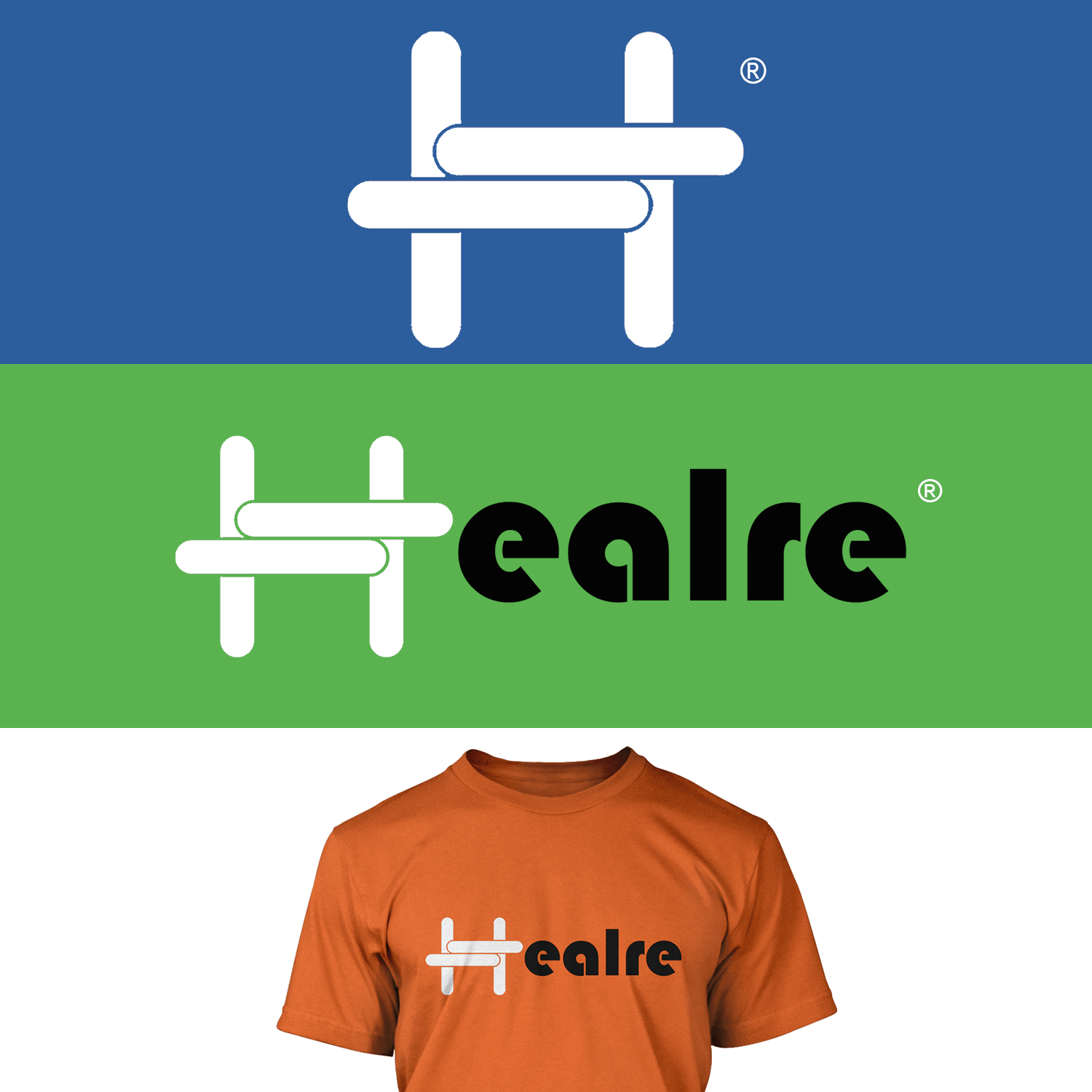 This piece is a logo design for Healre®, the health and fitness company. I tried close to 100 designs before I shifted to simplicity and came up with this one.