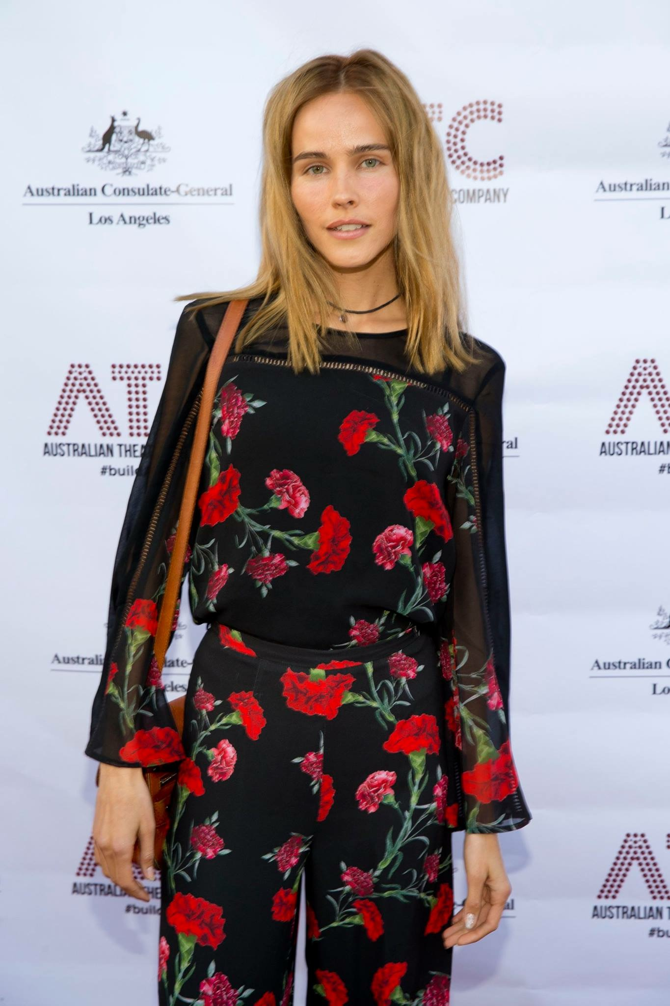 Actress Isabel Lucas attending opening night of  Ruben Guthrie .