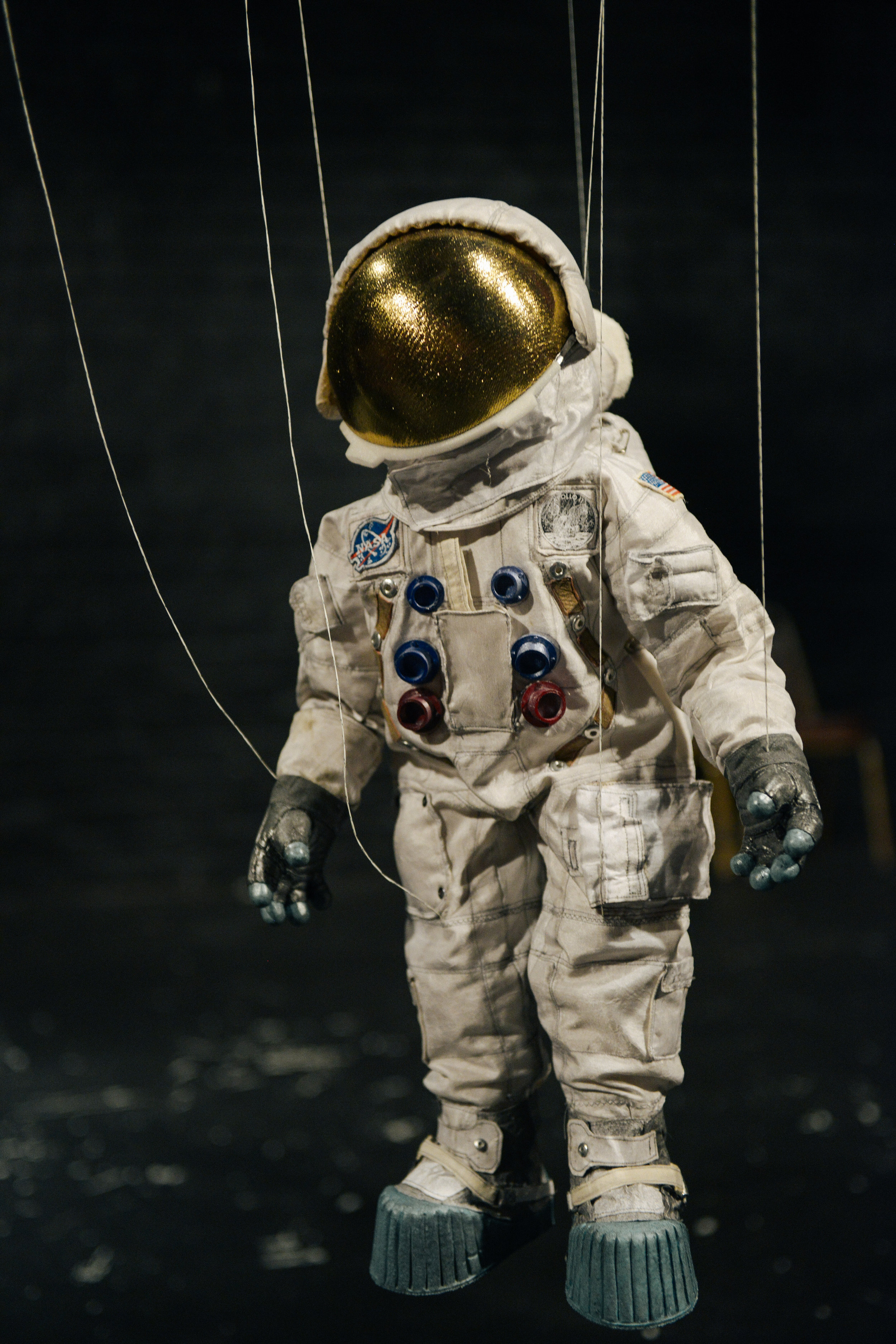Neil Armstrong puppet.