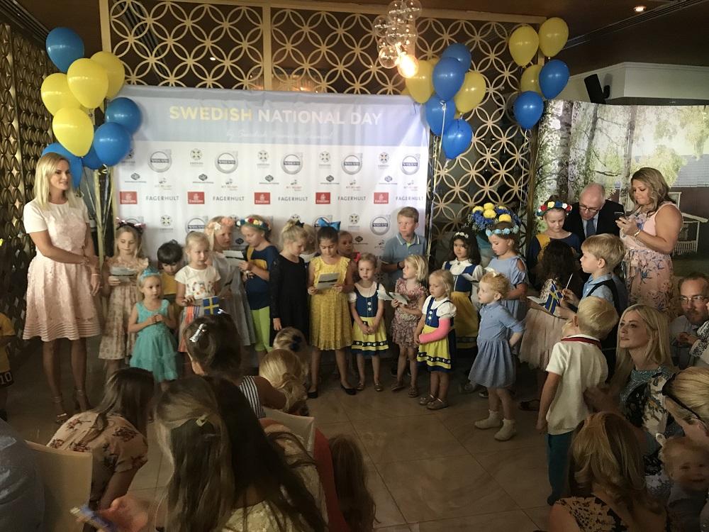 Children choir singing Idas sommarvisa