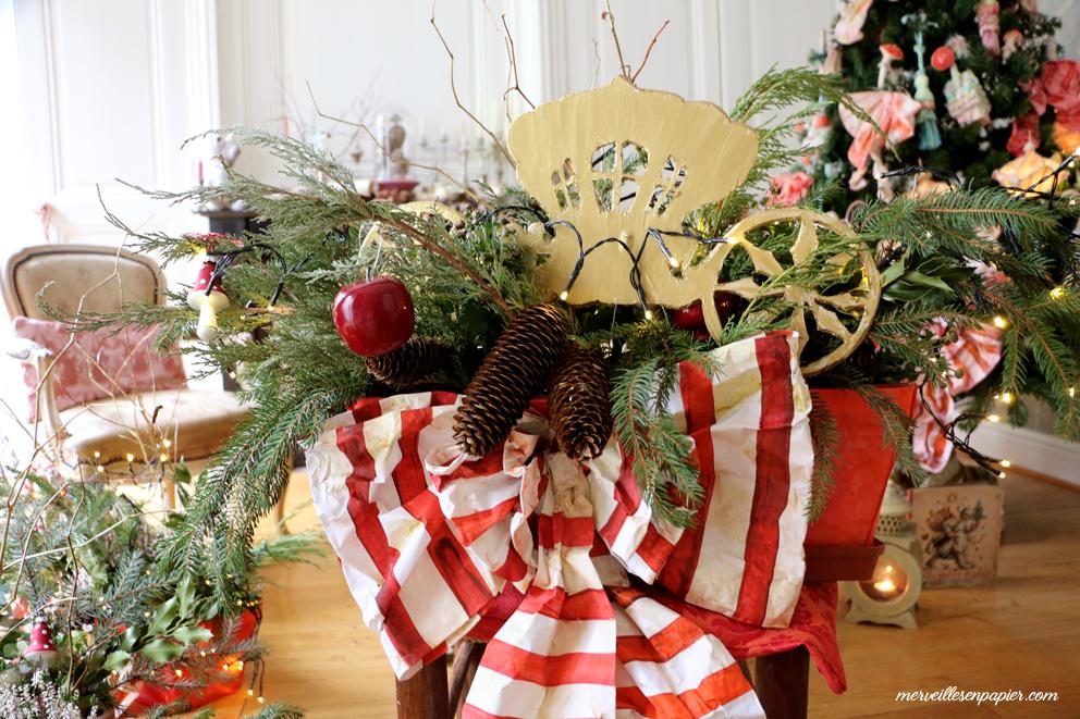 jardinières de Noël