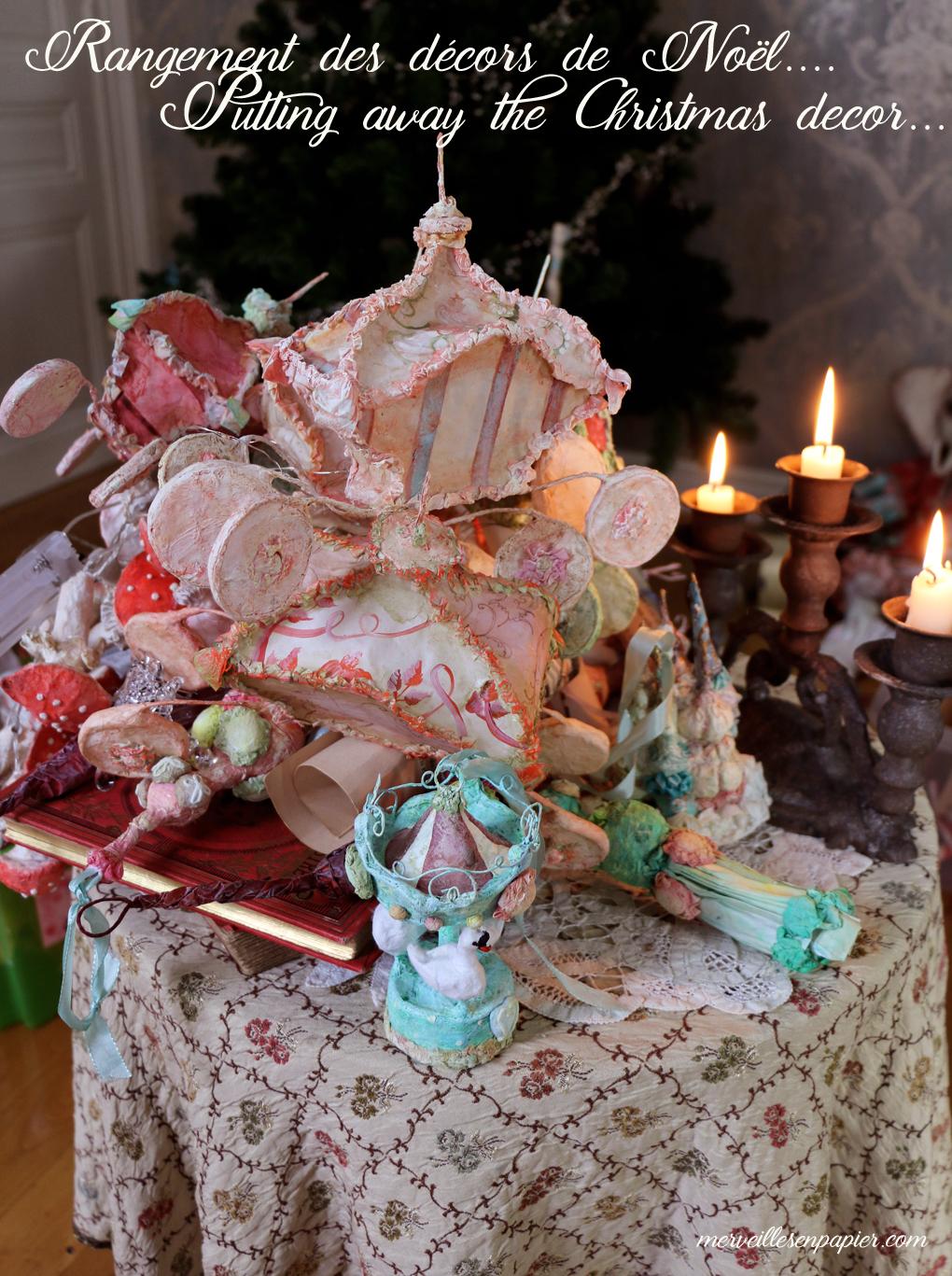 Putting away my christmas decor....