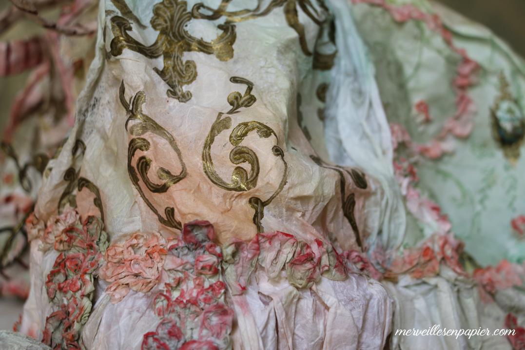 Detail of White cat's dress