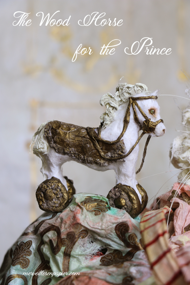 Wood horse for the prince -White Cat