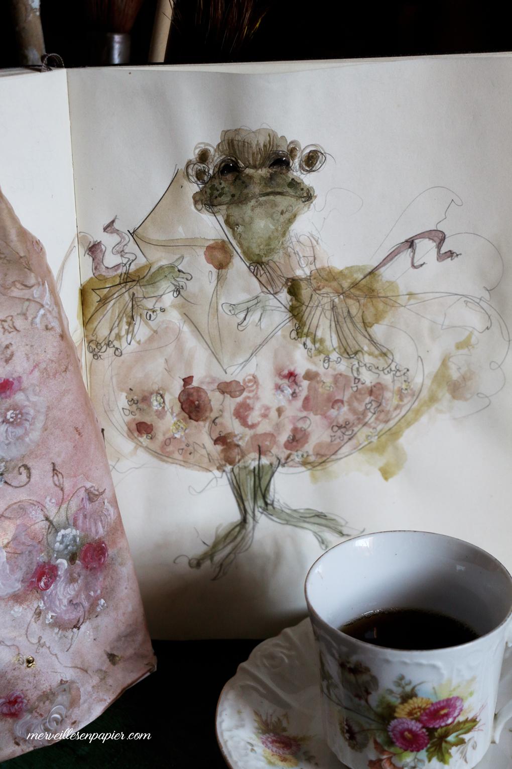 Frog footman -sketch- Alice in wonderland