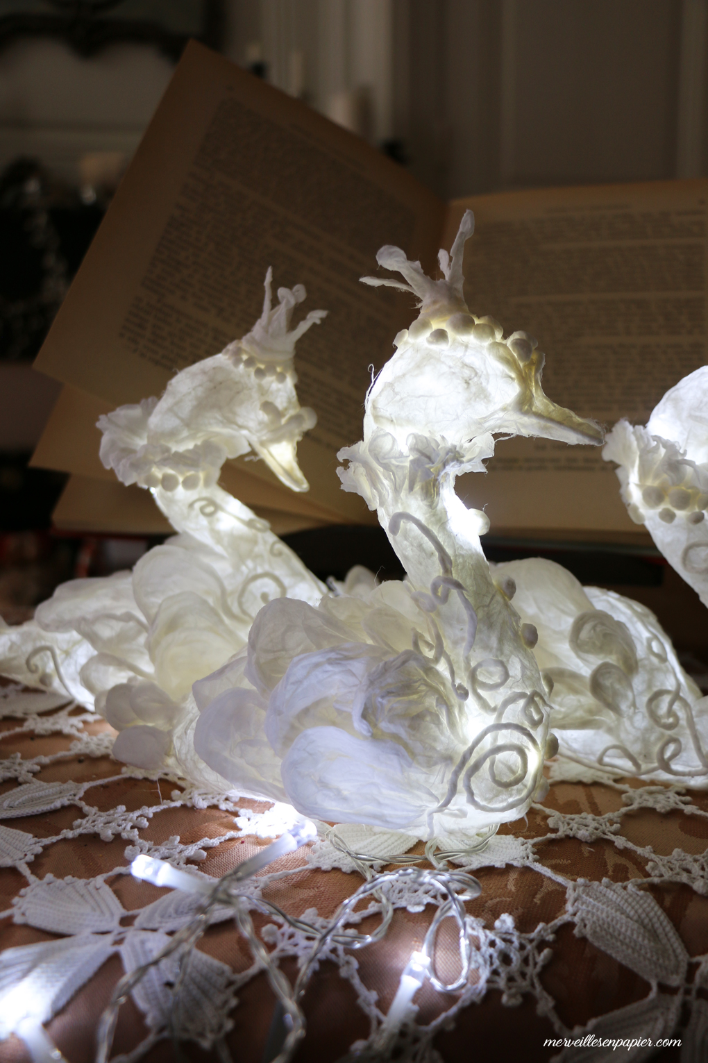 Paper Swans Ligfhts - Nutcracker workshop