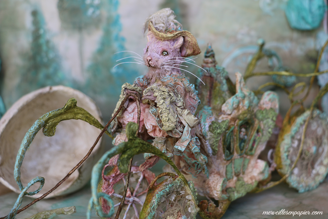 The Carriage with the pink Rat  Driver- Blue Bird- Madame d'Aulnoy