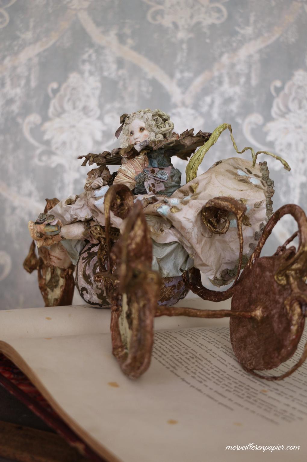 Cinderella on her Pumpkin Carriage