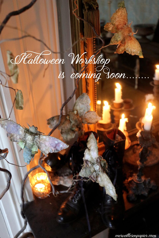 Halloween workshop, paper moths and butterflies
