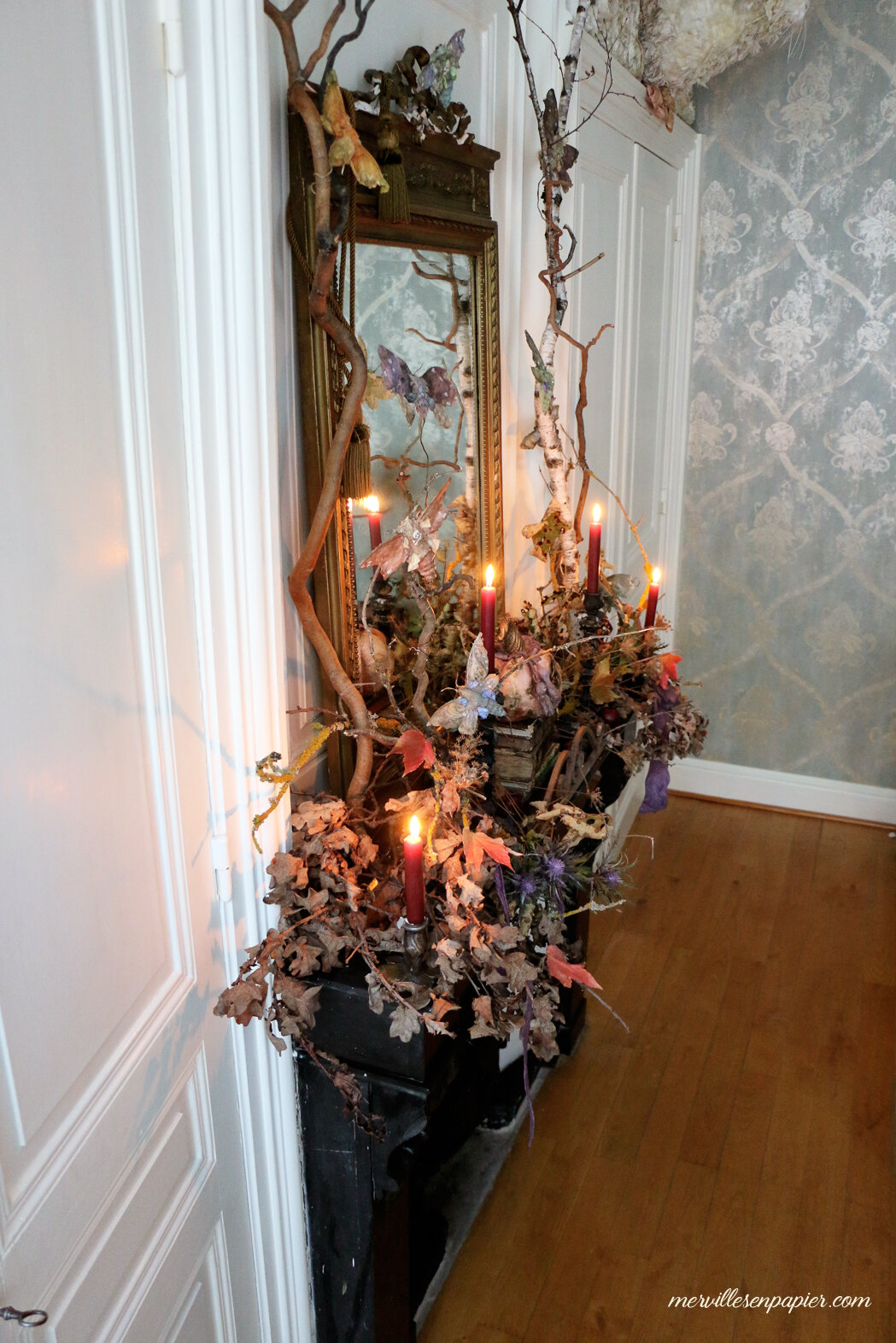 Halloween Mantel decor - french Castle style
