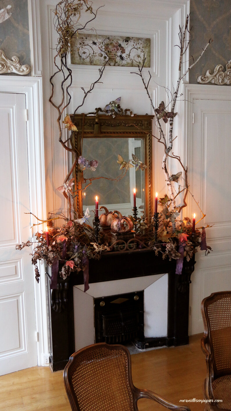 halloween Mantel- french castle style
